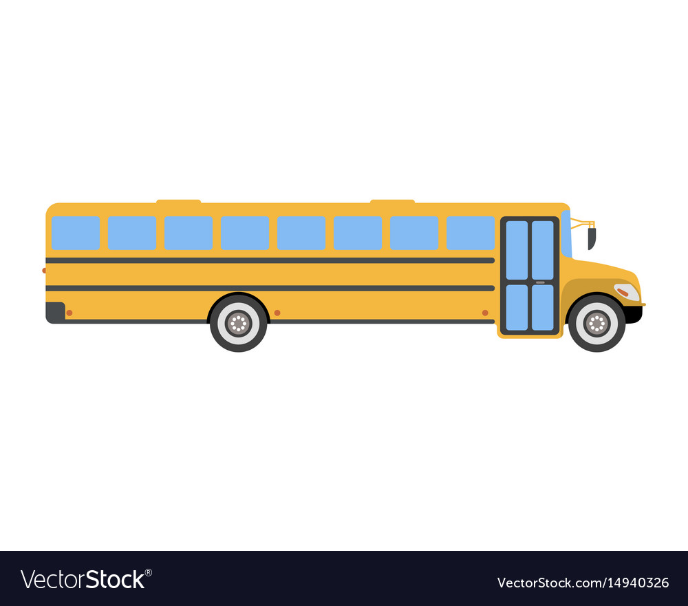 School bus flat icon and logo cartoon.