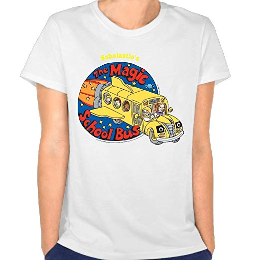 Amazon.com: Womens The Magic School Bus Logo Fashion Short T.