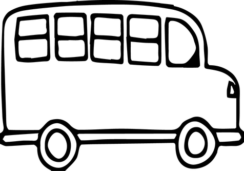 School Bus Outline.