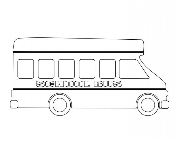 School Bus Outline Free Stock Photo.