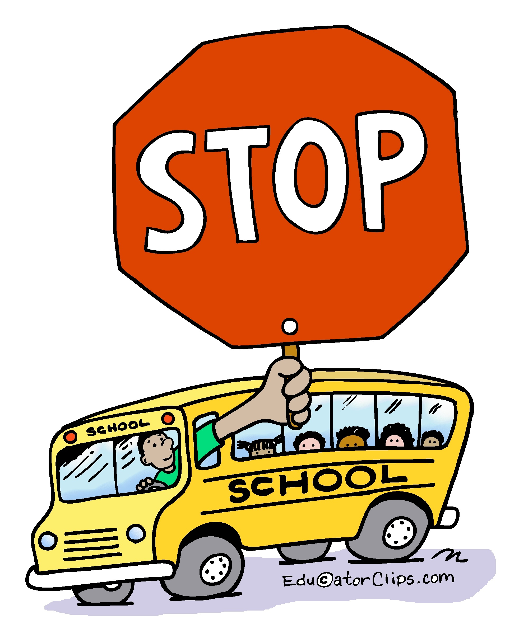 School bus stop clipart 6 » Clipart Station.