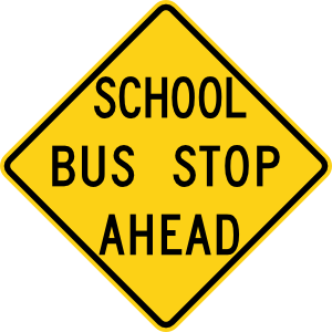 School Bus Stop Ahead Sign Clip Art at Clker.com.
