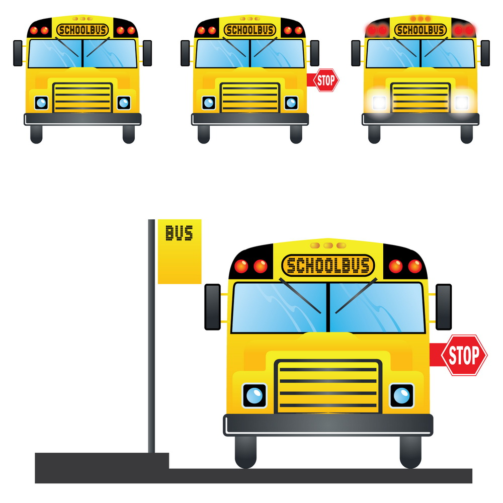 School Bus Stop Sign Clipart.