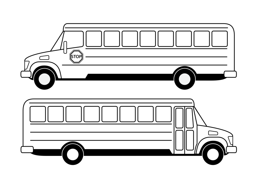 Best Bus Clipart Black And White #11190.