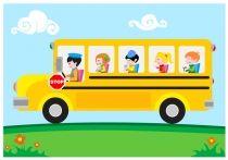 Cartoon School Bus Vector Free Download.