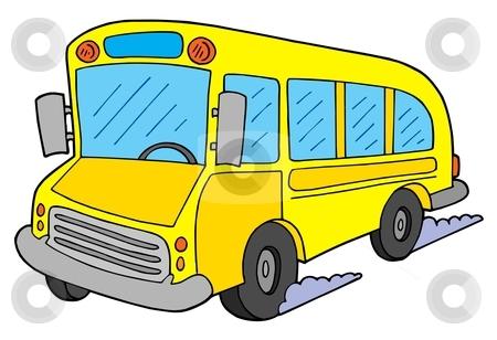 School bus vector illustration stock vector.
