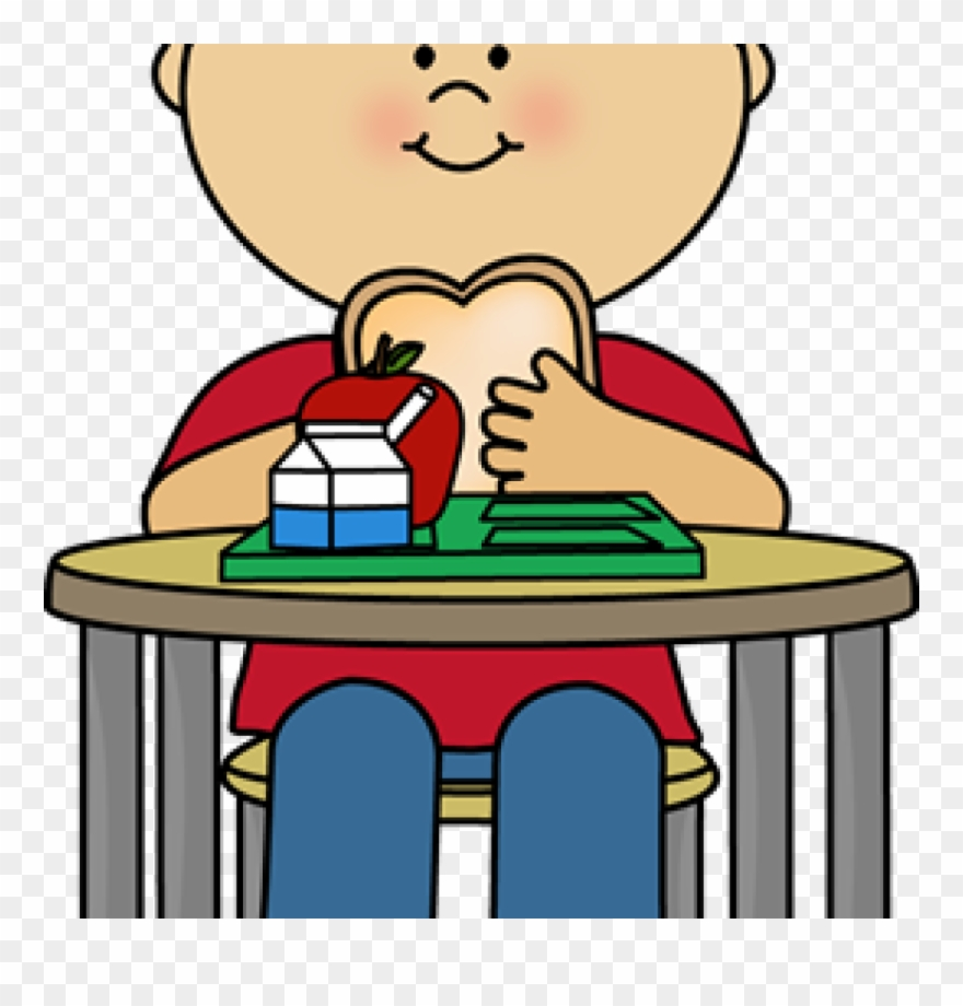 School Lunch Clipart Boy Eating Cafeteria Lunch Clip.
