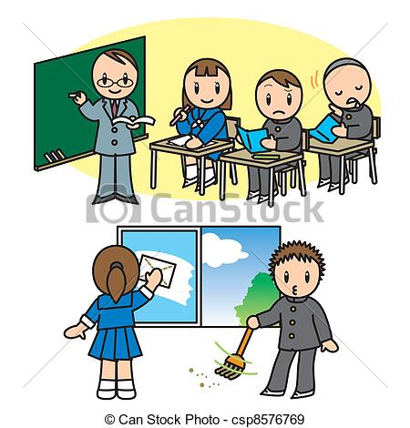 Cleaning School Clipart.