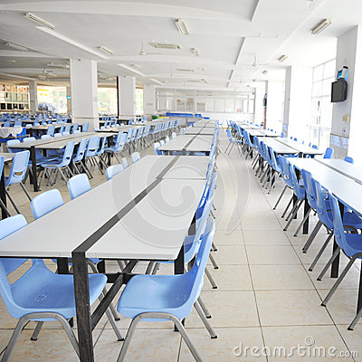 Clean School Cafeteria Royalty Free Stock Images.