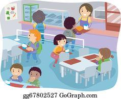 School Canteen Clip Art.