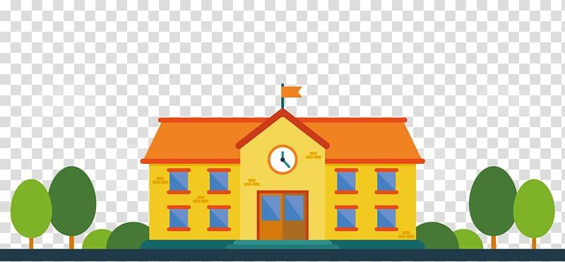 Student Malang School Education Learning, Cartoon orange.