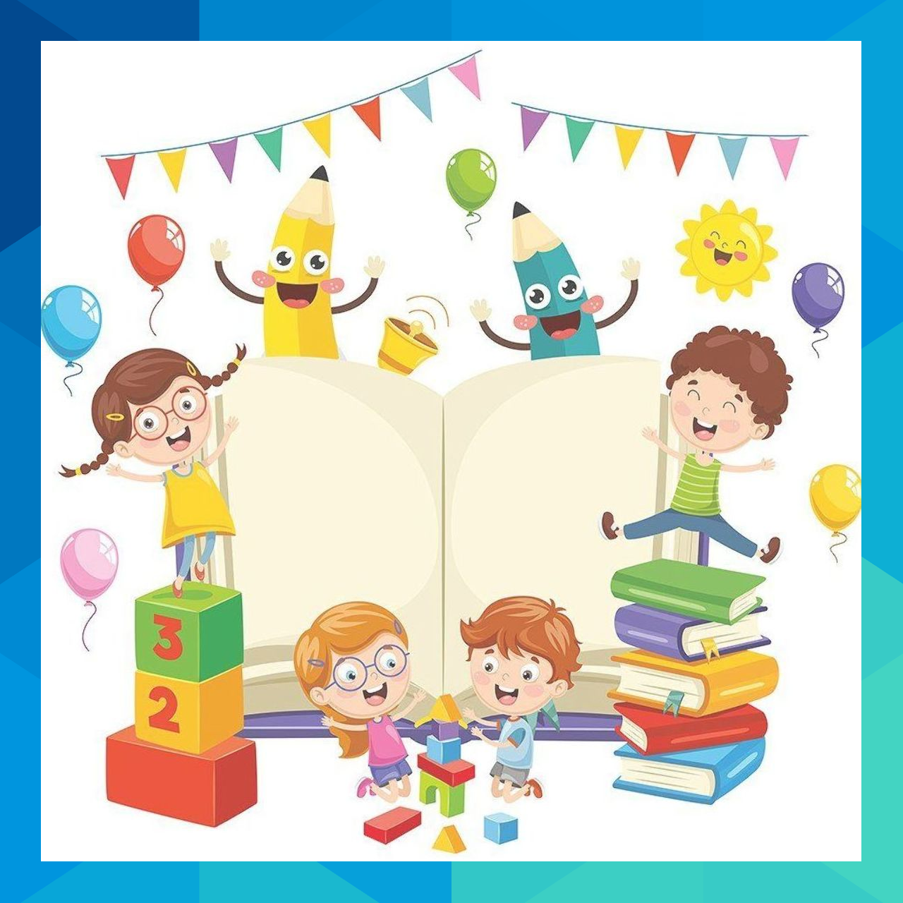 Illustration Of School Elements banner, celebration, cartoon.