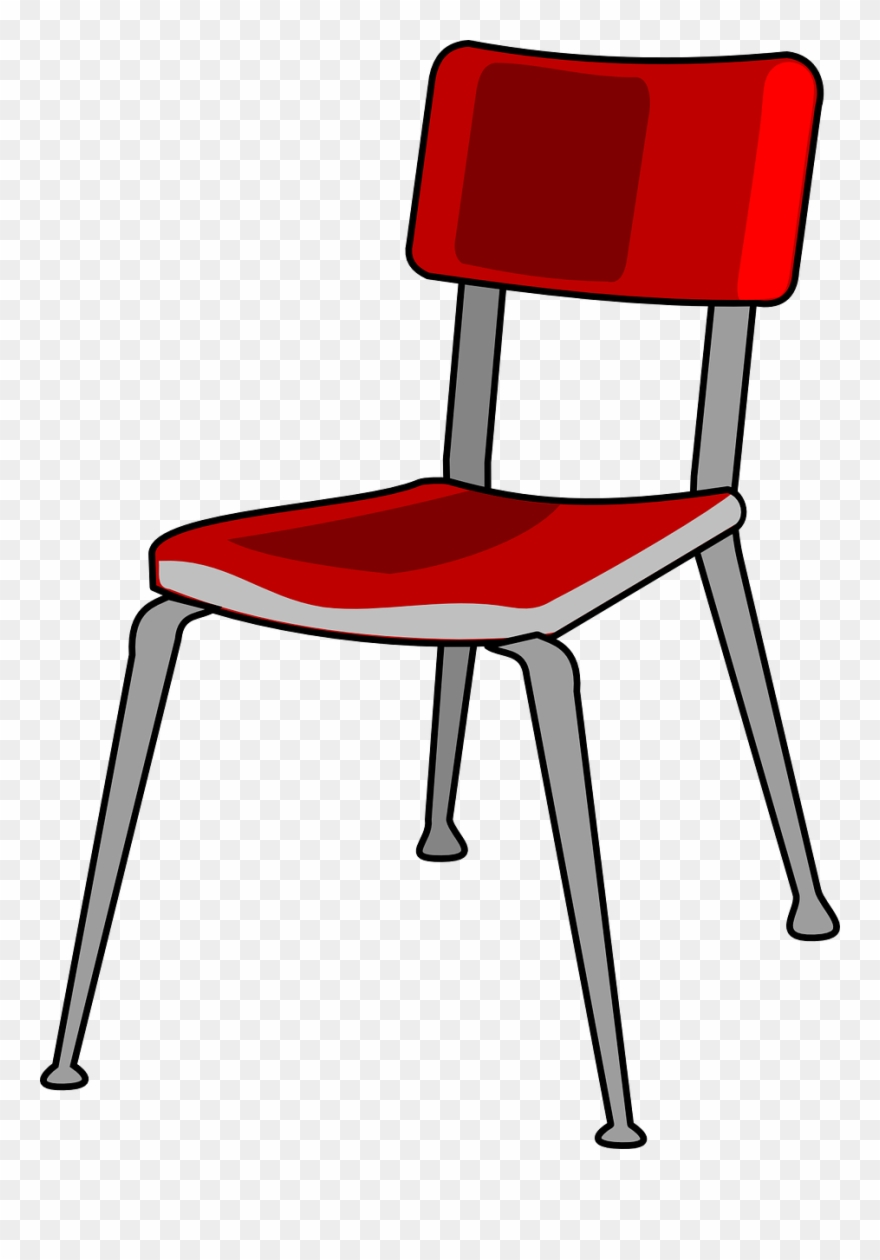 Chair Red Metal Free Vector Graphic On Pixabay School.
