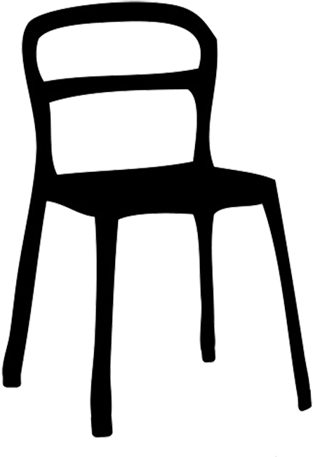 Good School Chair Clipart Black And White Image.