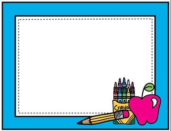 Clipart: Back to School Chalkboard Borders.