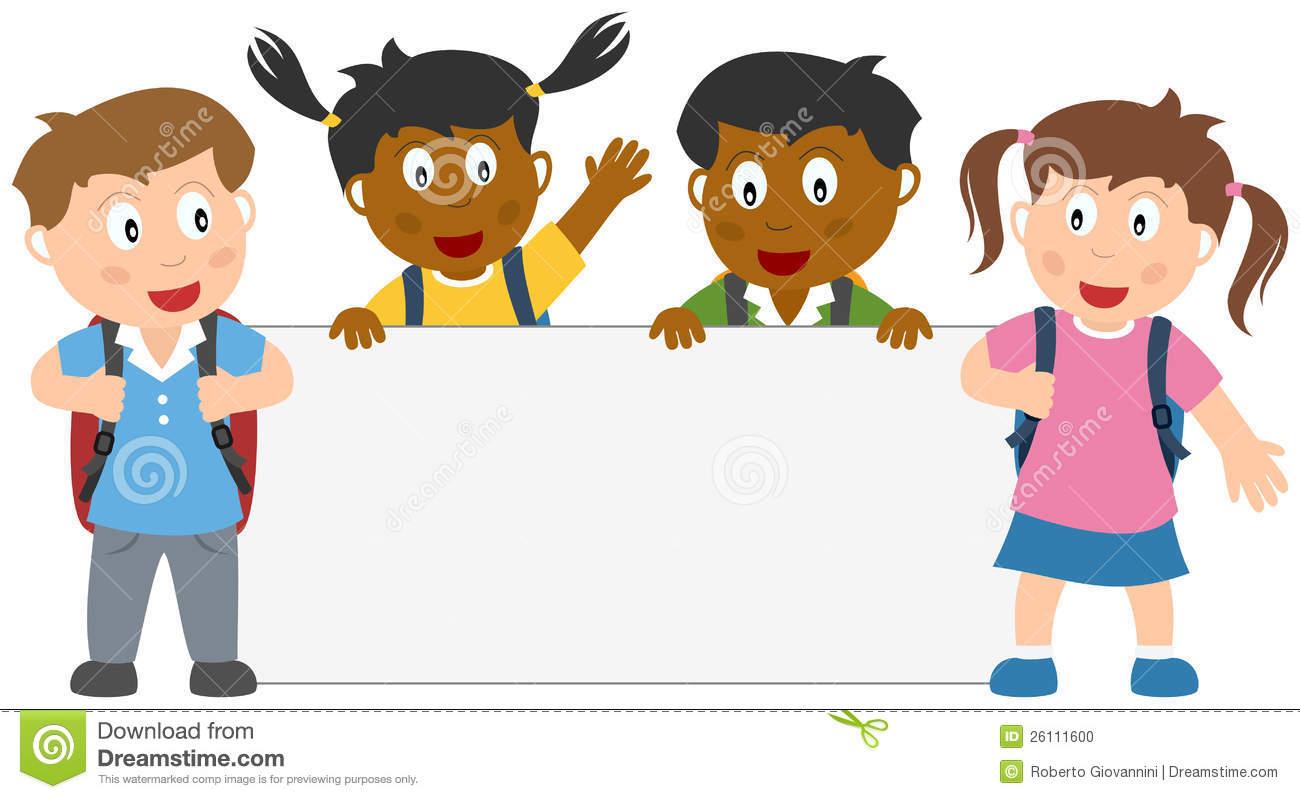 40+ School Children Clipart.