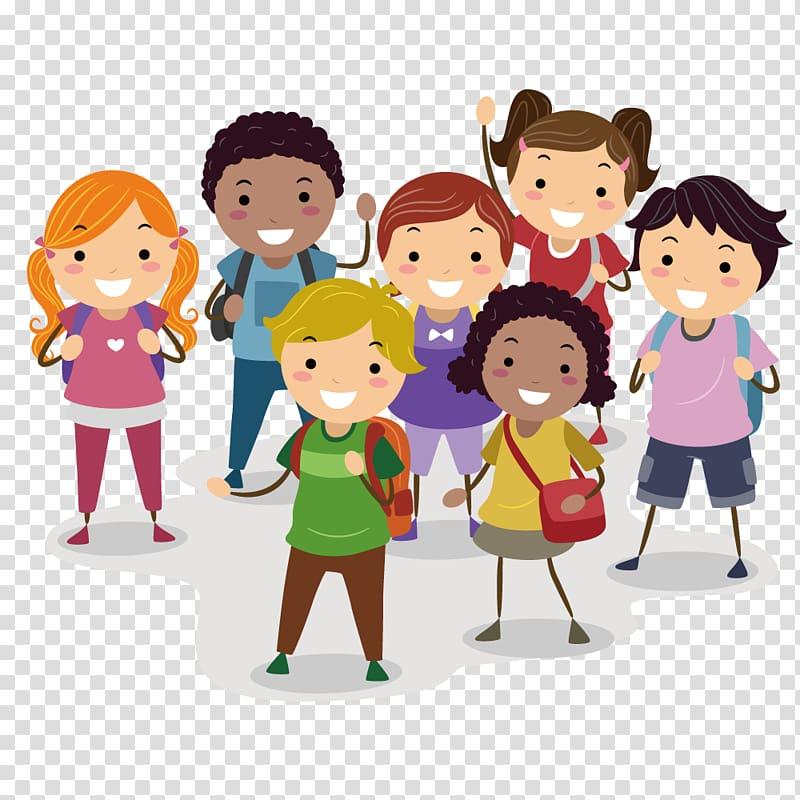 Childrens illustration, Child Cartoon Illustration, school.