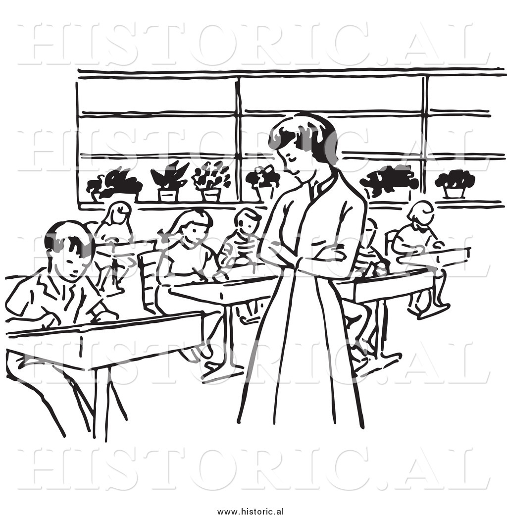students in class black and white clipart - Clipground