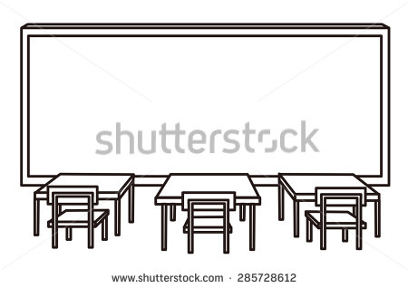 Empty Classroom Clipart Black And White.