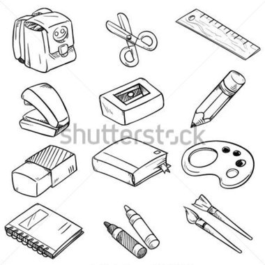 Things In The Classroom Clipart Black And White.