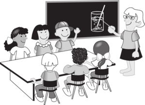 School Classroom Clipart Black And White.