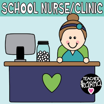 School Nurse, Clinic Clipart.