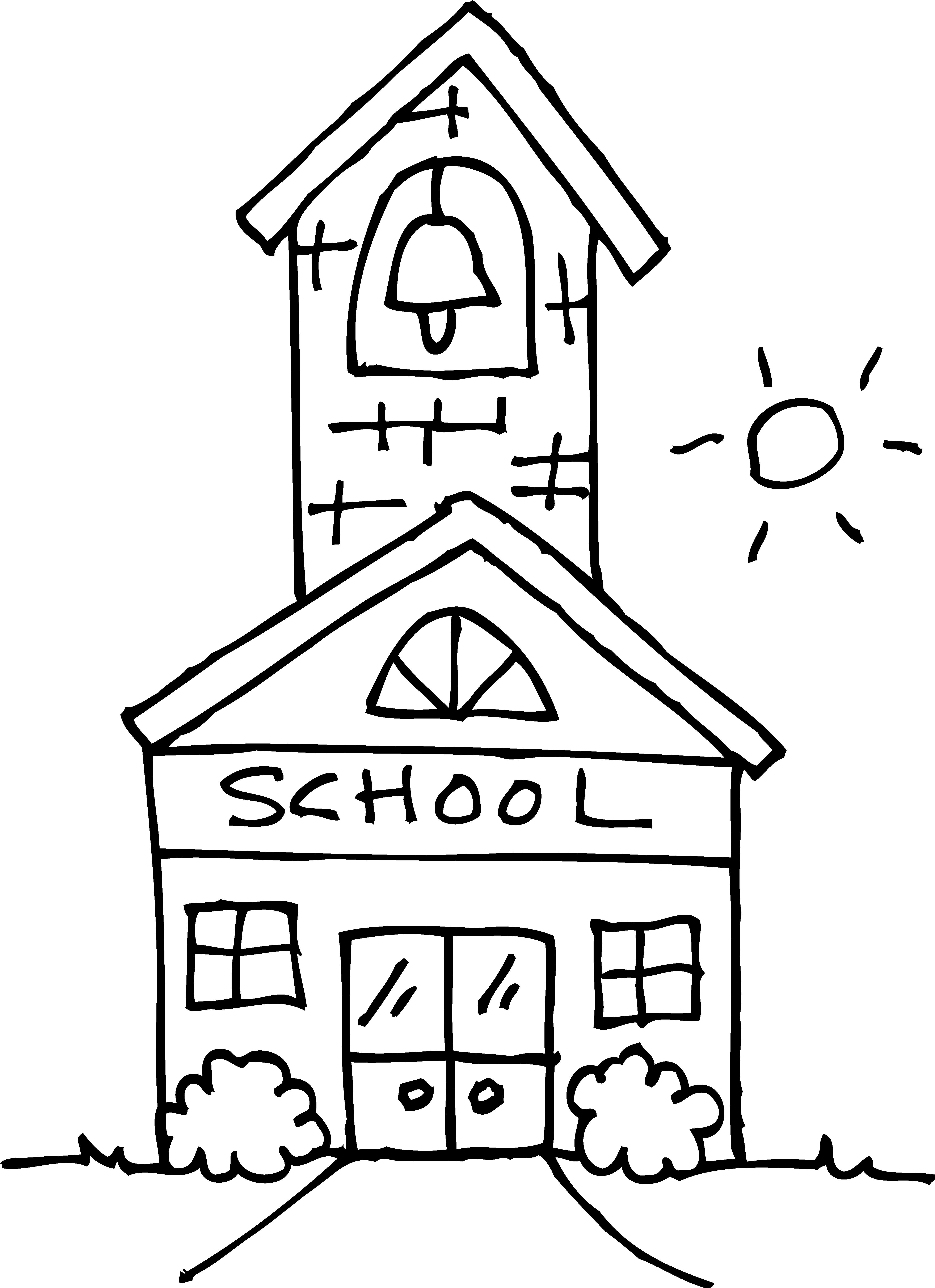 32+ School Clip Art Black And White.