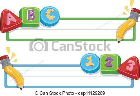 Clip Art Vector of School Banner.