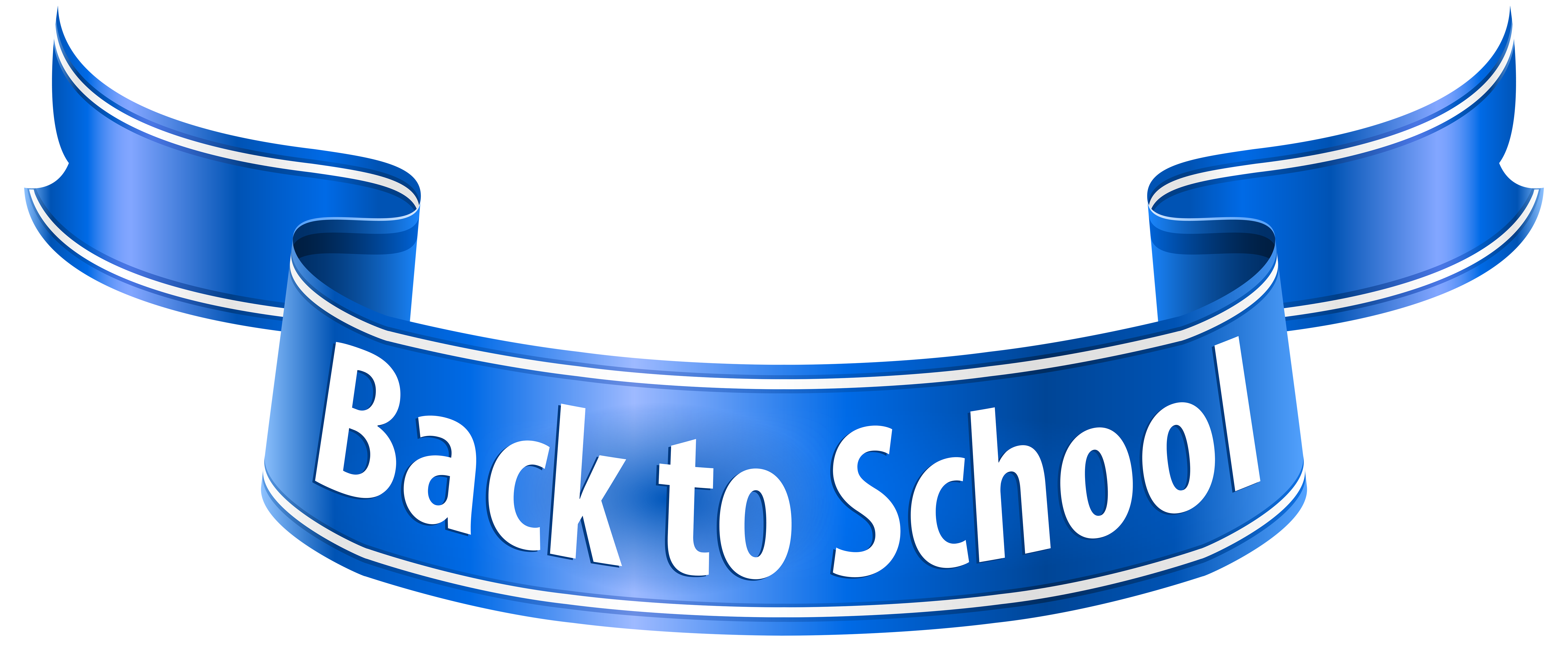 Back to School Banner PNG Clip Art Image.