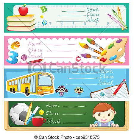 Clipart Vector of Back to School.