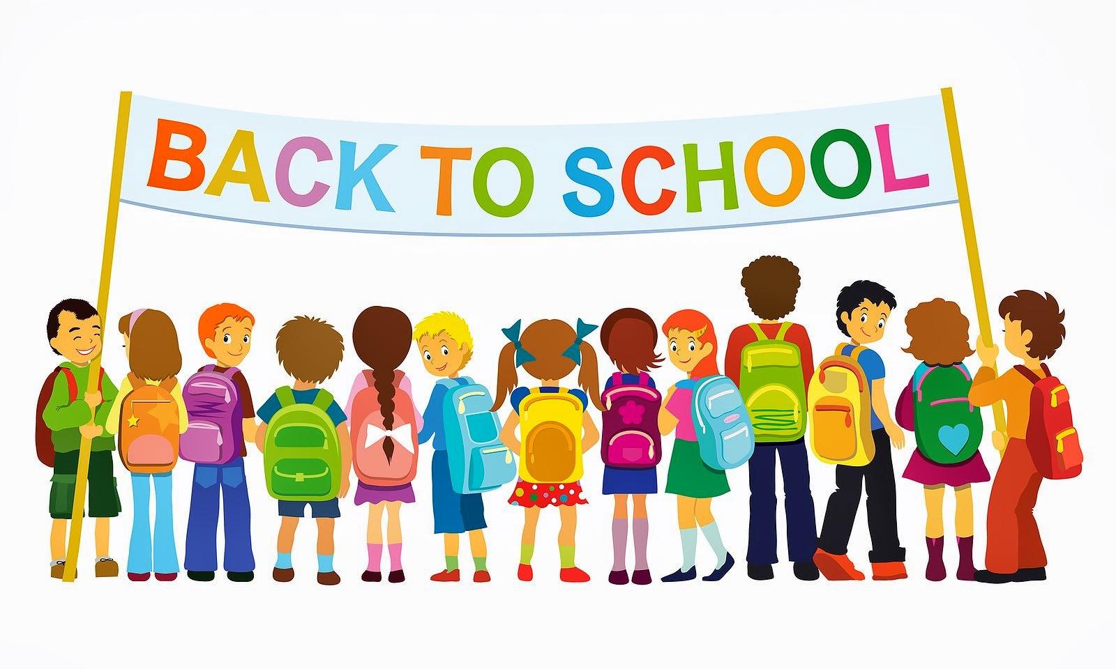 Banner Kids School Clipart.