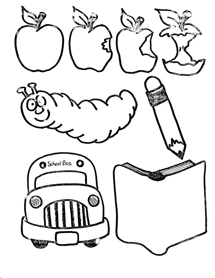 School Supplies Coloring Pages.