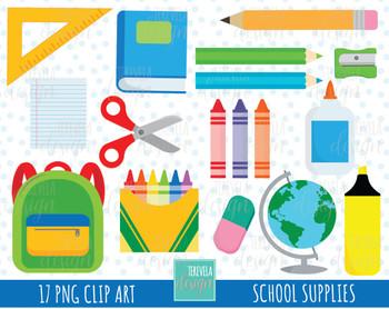 50% SALE SCHOOL clipart, school supplies clipart.