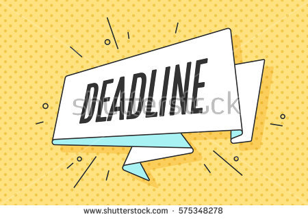Deadline Stock Vectors, Images & Vector Art.