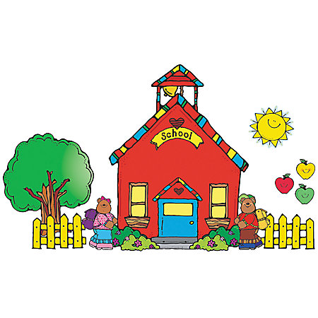 Carson Dellosa D.J. Inkers Bulletin Board Set Schoolhouse by.