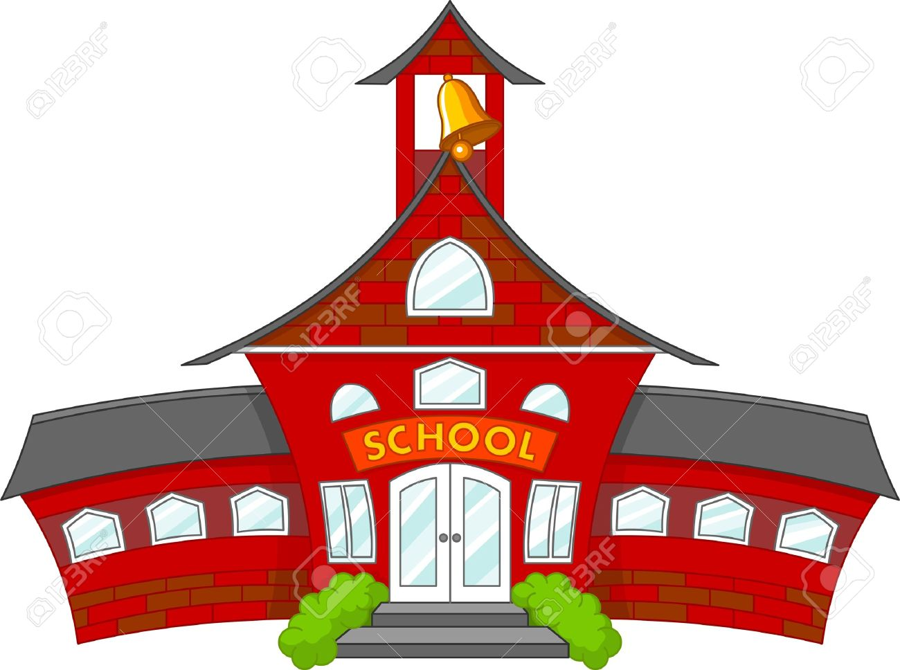 Cartoon School Clipart.