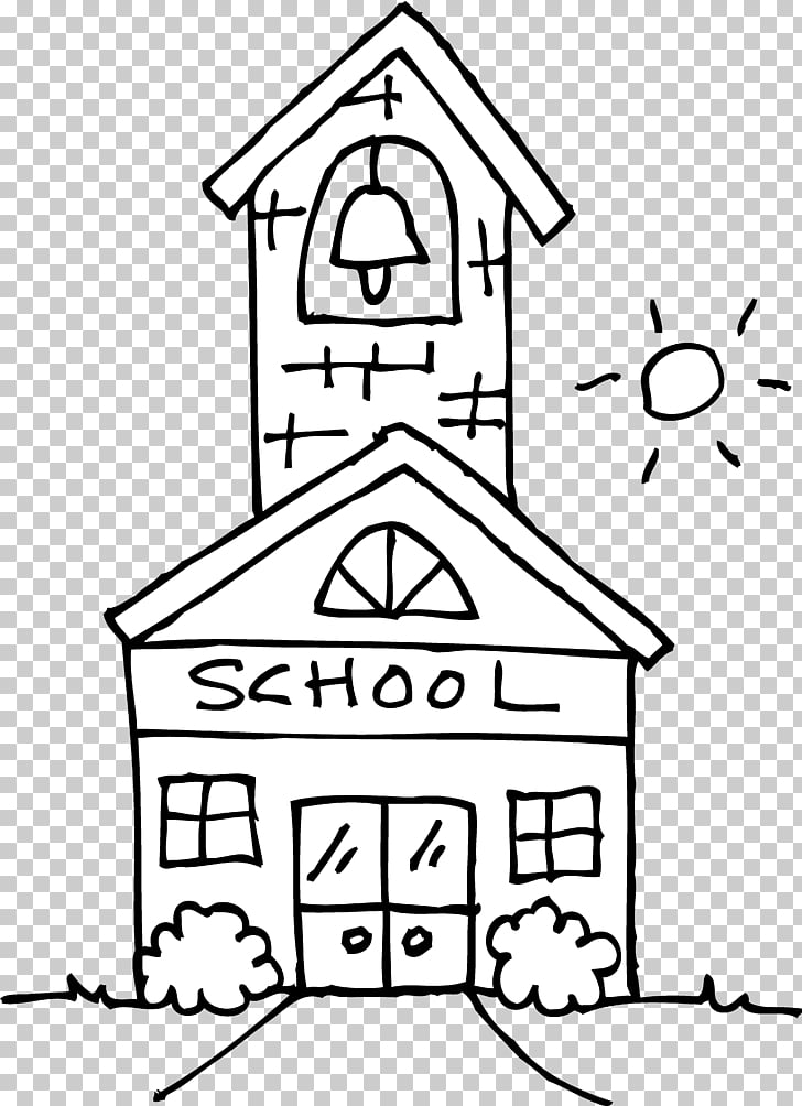 School Black and white Outline , School s Outline PNG.