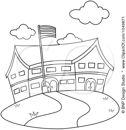 Free School Outline, Download Free Clip Art, Free Clip Art.