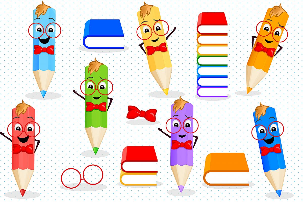 Back to school clipart, Pencils clipart.