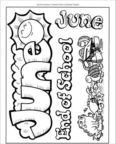 June End of School Clip Art.