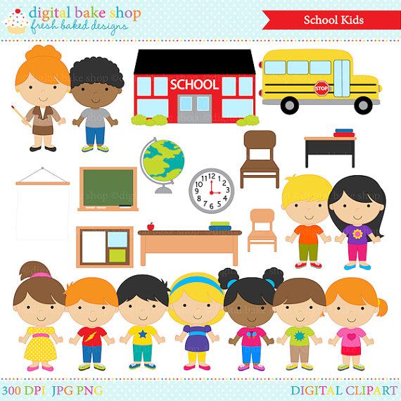Printable School Clipart.