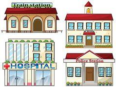 A train station, a school,.