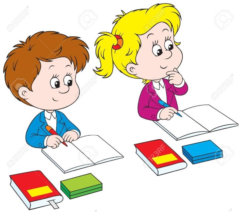 School Children Writing Clipart (44+) for Kids Writing.