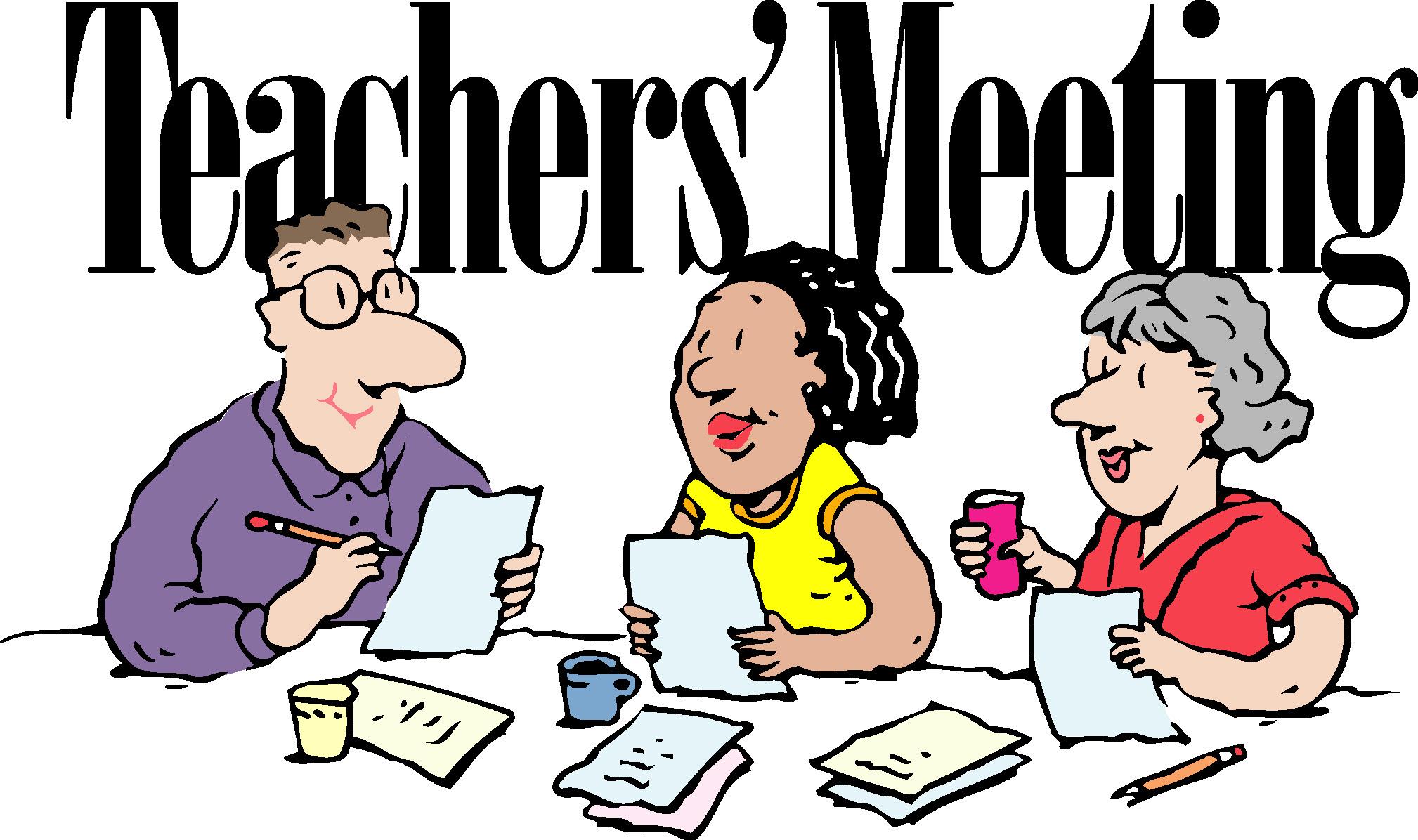 Teachers Meeting Clipart.