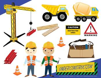 Under Construction Clip Art Set.