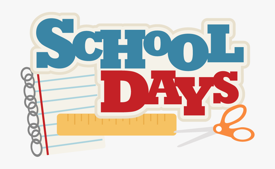 School Days Clipart.