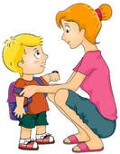 Clip Art of Off to School k18408059.