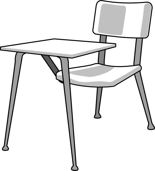 Furniture School Desk clip art Free vector in Open office.