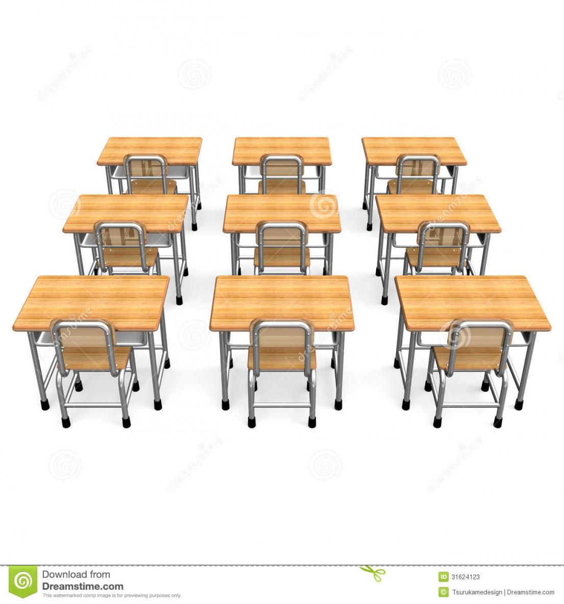 School Desk Chair Back.
