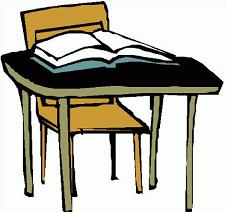 Free School Desk clipart.